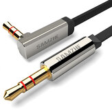 SAMZHE 3.5mm AUX Cable Audio Cable 90 Degree Audio Flat Cable Stereo Gold Plated for Headphone Earphone