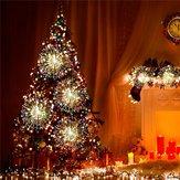 Bateria operado 8 modo LED Dandelion pendurado luz da corda com Controle Remoto Christmas Decor