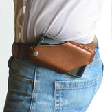 Men Genuine Leather 4.7inch~6.5 inch Phone Bag  Waist Bag Easy Carry EDC Bag For Outdoor