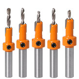 Drillpro 5 Pcs Ponta de Metal Duro 8mm Haste HSS Parafuso de Escareador para Madeira Router Bit Set Screw Extractor Remon Demolição para Fresa de Madeira