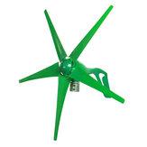 12V / 24V 5 Schaufeln 1800W Peak Green Horizontal Power Windturbinengenerator mit Laderegler