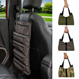 49x29cm Portable 600D Oxford Cloth Car Seat Back Multi-function Tool Roll Bag Storage Bag Universal For Car/ Outdoor/ Motorcycle