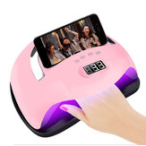168W Nail Dryer Portable LED UV Nail Lamp USB Polish Acrylic gel Curing Lamp Manicure with Phone holder