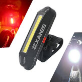XANES 2 i 1 500LM Cykel USB Genopladeligt LED Bike Light Baglygte Ultralight Warning Night