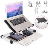40 * 26 cm Büyüt Fan ile Soğutma Katlanabilir Delik Alüminyum Dizüstü Bilgisayar Masası Masa TV Yatak Bilgisayar Mackbook Masaüstü tutucu