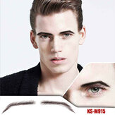 Men's Artificial Eyebrow Stickers Handmade Crochet Eyebrows Natural Three-dimensional Eyebrows
