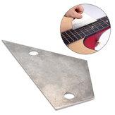 Debbie Folk Bass Nivelador Régua de aço inoxidável Triângulo de dois buracos Fingerboard Fret Altura Régua de guitarra de medição irregular