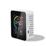 Medidor de CO2 Monitor de qualidade do ar Visor digital multifuncional inteligente Detector de umidade e temperatura Termômetro Higrômetro