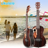 21 Inch Guitarra de ukelele Rosewood de cuatro cuerdas con orificios de forma de uva
