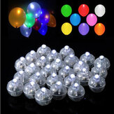 50 szt. White Ball Lamp LED Light Paper Lantern Balloons Wedding Party Christmas Decor Halloween