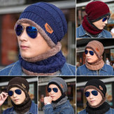 Männer Damen Outdoor Sports Bike Hut Winter warme gestrickte Baggy Beanie Cap Schal Set