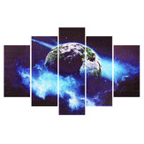 5 Panels Earth Pattern no Frame Canvas Painting Hanging Pictures Living Room Office Wall Decoration Supplies