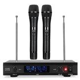 U12 Sistema de Microfone UHF de Karaokê Sem Fio com Microfone Duplo de Mão Sem Fio