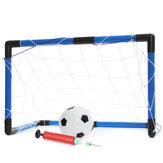 59x27x39cm Soccer Goal Net Set Youth Children Football Net Football Sports Pump Outdoor Indoor Training