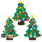 3 Types DIY Felt Christmas Tree with Ornaments Xmas Gift Wall Hanging Decoration Handmade Home Decoration Gifts