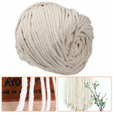 Natural Beige Cotton String Thread Twisted Cord Rope Craft Makramee