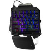 G92 Tunggal Tangan RGB LED Backlit Gaming Keyboard 35 Tombol Keypad Mouse untuk PUBG LOL Dota Games
