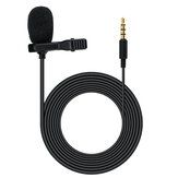 2m 3.5mm Mobile Phone Recording Microphone Lavalier Mini Recording Microphone