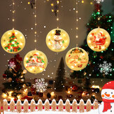 USB Hanging 3D Christmas LED String Light Novelty Decorative Light with Remote Control for Festival Party Decor