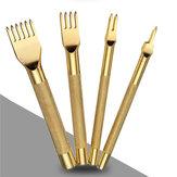 3 milímetros laço de ponto de diamante ferramenta formão soco artesanato de couro definir 1/2/4/6 pinos