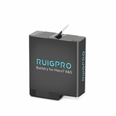 Ruigpro 1220mAh Lipo Battery for Gopro Hero 5/6/7 Sport Camera Accessories