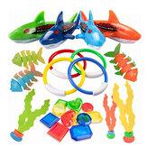 الغوص المحمولة لعب مجموعة الغوص طوربيد الصواريخ الأسماك العصي القرش شكل لعب الاطفال اللعب المياه اللعب هدية