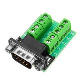 Cabeza macho RS232 Terminal giratorio Adaptador de puerto serie DB9 Terminal Conector