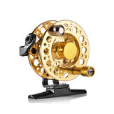 ZANLURE 1: 1 Dia.50mm Fly Fishing Reel Aluminum Alloy Full Metal Casting CNC Hand Pole Ice Fishing Wheel
