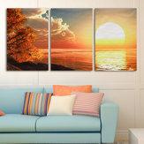 3カスケードデーサンセットシーンキャンバスペインティング装飾的な壁の写真ホームデコレーションUnframed