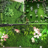 Zielona ściana roślin w tle ściana z tworzywa sztucznego symulacji ściany trawnik