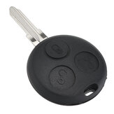 3 Button Remote Key Case Fob 433Mhz w/ Chip For Mercedes Benzs Smart City ForTwo