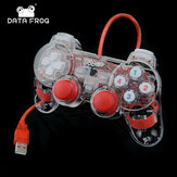 DATENFROSCH USB Wired Dual-Vibration Feedback Gamepad Game Controller für PC-Spiele Kompatibel mit Win7 Win8 Win10