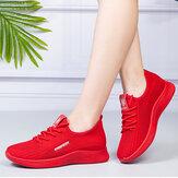 Kadınlar Nefes Dantel Up Hafif Rahat Spor Ayakkabılar