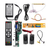 T.SK106A.03 Universele LCD LED TV Controller Driver Board + 7 Sleutel knop + 1ch 6bit 30 Pins LVDS Kabel + 1 Lamp Inverter + Luidspreker + EU Power Adapter