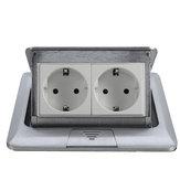 Panel Standard UE Pop Up Floor Socket 2-drożny gniazdko elektryczne Gniazdo modułowe