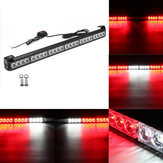 27Zoll 24 LED Weiße rote Not Warnleuchte Bar Traffic Strobe Blinklicht