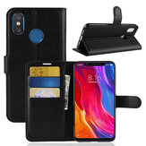 Bakeey Flip Card Slot With Stand PU Leather Case Protective Case For Xiaomi Mi 8