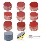 102 sztuk 3 cale 75mm tarcza szlifierska okrągły papier ścierny na sucho z podkładką zabezpieczającą do polerowania narzędzia czyszczące papier ścierny