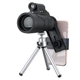 50×60 Outdoor Hiking Camping HD Optics Tripod Monocular Telescope Bird Watching With Laser Flashlight Phone Clip