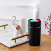 ناشر رائحة مرطب صغير 320 مللي 2 ترس USB شحن LED موزع زيت عطري للسيارة للمكتب المنزلي