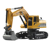 Mofun 1027 1/24 6CH RC Excavator Vehicle Models With Light Music Children Toy