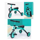 KIWICOOL 3 Tekerlekler 2in1 Toddler Üç Tekerlekli Bisiklet Çocuk Scooter Anti-rollover Çocuklar Trike Denge Bisiklet Ile 2/3/4/5 Yaşında Için Hızlı Yayın Katlanır sistemi
