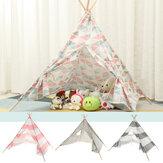 Μεγάλα Teepee Tent Παιδικά Βαμβακερά Καμβά Παίξτε House Boy Girls Wigwam