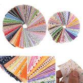 100Pcs Random Color Cotton Fabric Printed Patchwork Bundle for Sewing Fat Scrapbooking Pattern