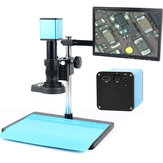 Autofocus HDMI TF Video Auto Focus Industry Microscope Camera + 180X C-Mount Lens+Stand+144 LED Ring Light+10.1
