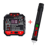 HT106B Socket Outlet Tester Circuit Polarity Voltage Detector+Winpeak ET8900 Voltage Tester Pen