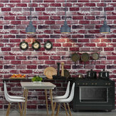 3D Modern Brick Pattern Non-woven Wall Sticker Vintage Style Living Room Bedroom