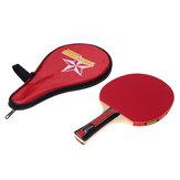 Uzun Saplı Çalkalamalı Masa Tenisi Raketleri Su Geçirmez Çanta Çanta Kırmızı Kapalı Masa Tenisi Aleti