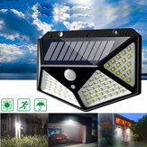 ARILUX® 100 LED Solar Powered PIR Motion Sensor Aplique al aire libre Jardín Lámpara 3 modos
