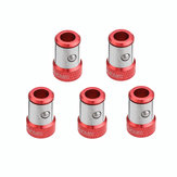BROPPE 5pcs Screwdriver Magnetic Ring For 6.35mm Shank Double Heads Screwdriver Bit